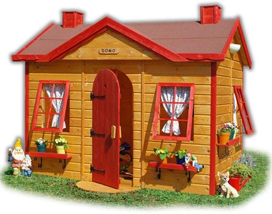 Casetta legno bambini domo for Casetta in plastica per bambini usata