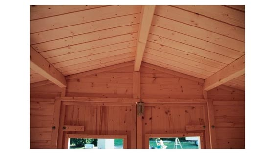 Casetta in legno leroy merlin for Lampadario legno leroy merlin