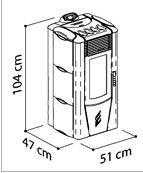 Stufa a pellet monica - Dimensioni stufe a pellet ...