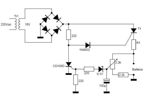 Schema Elettrico Per Caricabatterie 12 Volt : Caricabatterie